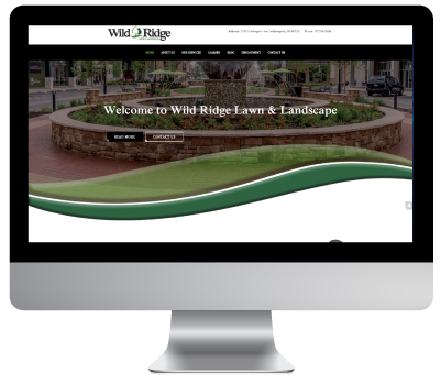 Wild Ridge Website on iMac