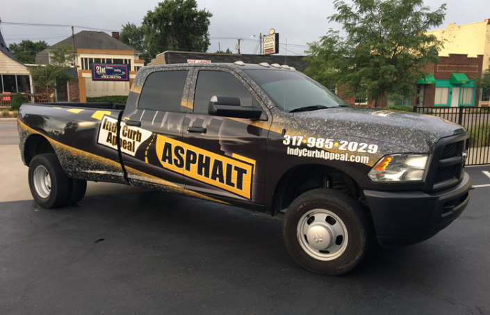 Indy Curb Appeal Asphalt Truck Wrap