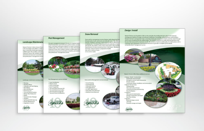 Nature's Partner Brochure Design