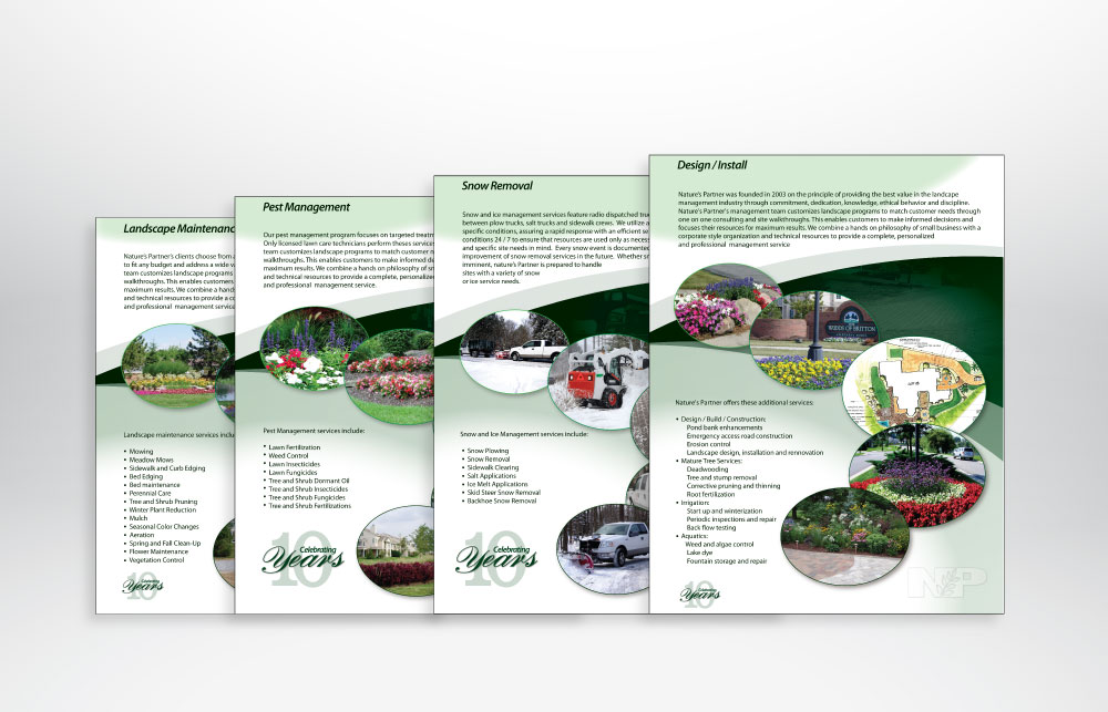 Nature's Partner Brochure Design