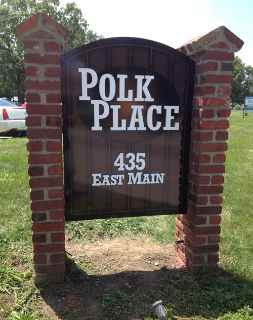 Polk Place Exterior Sign