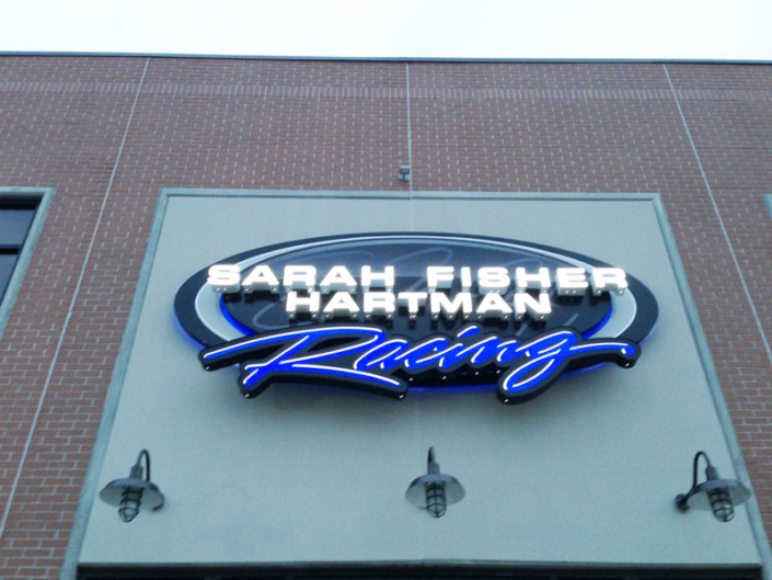 Sarah Fisher Hartman Racing Exterior Sign