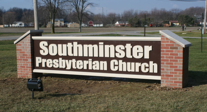 Southminister Presbyterian Church Exterior Sign
