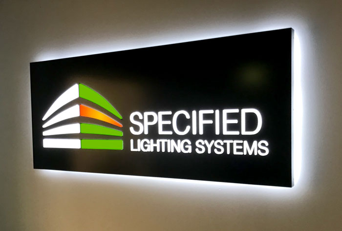 Specified Lighting Systems Interior Sign