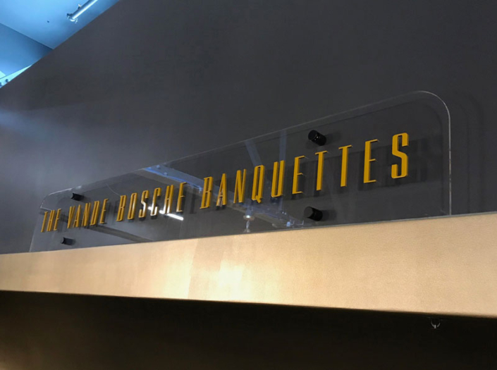 The Vande Bosche Banquettes Interior Sign