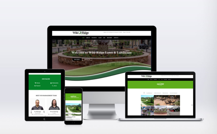 Wild Ridge Lawn & Landscape website on devices