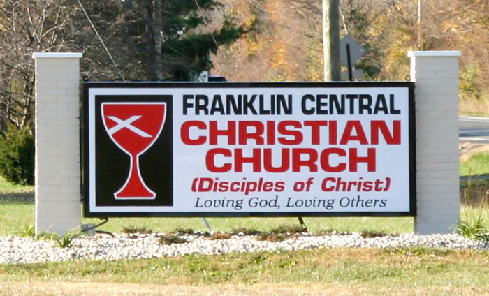 Franklin Central Christian Church Exterior Sign