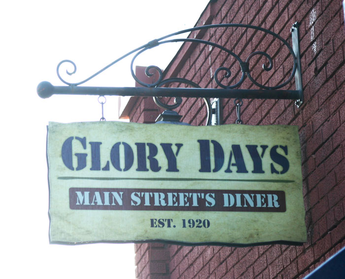 Glory Days Main Street Diner Exterior Sign