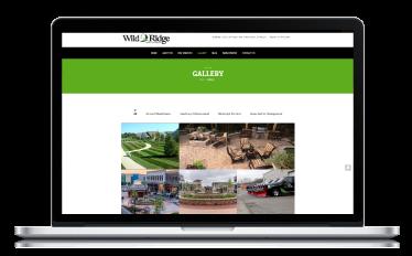 Wild Ridge Website on Macbook