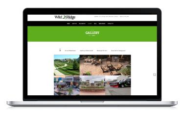 Wild Ridge Website on Macbook