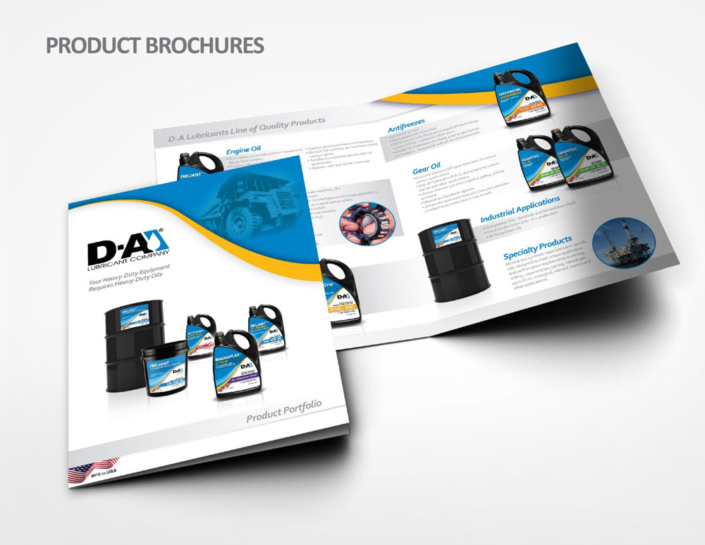 DA Lubricant Product Brochures design