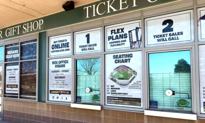 Indianapolis Indians Tickets Window Wrap