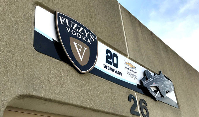 Fuzzy's Vodka Garage Exterior Sign