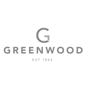 Greenwood City logo black and white