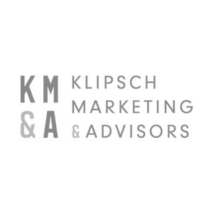 Klipsch Marketing Advisors logo black and white