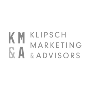 Klipsch Marketing Advisors logo black and white