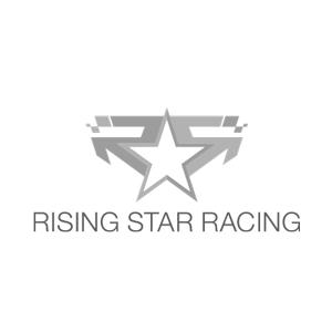 Rising Star Racing logo black and white