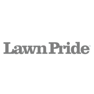 Lawn Pride logo black and white