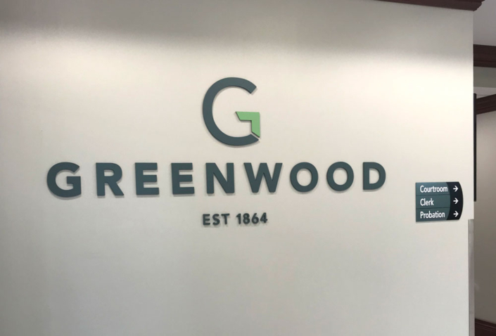 City of Greenwood Logo Interior Sign