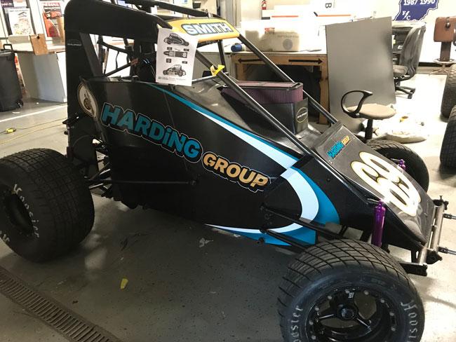Harding Group Midget Race Car Wrap