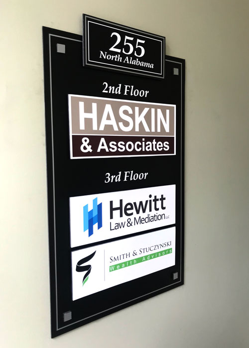 Haskin & Associates Interior Sign