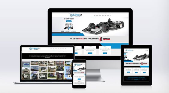 Business Art Designs Website on Devices