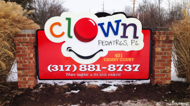 Clown Pediatrics Outdoor Sign