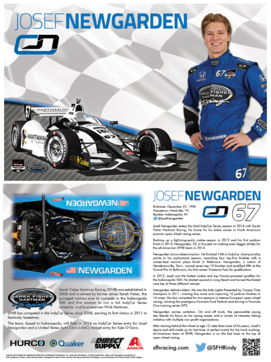 Josef Newgarden Hero Card