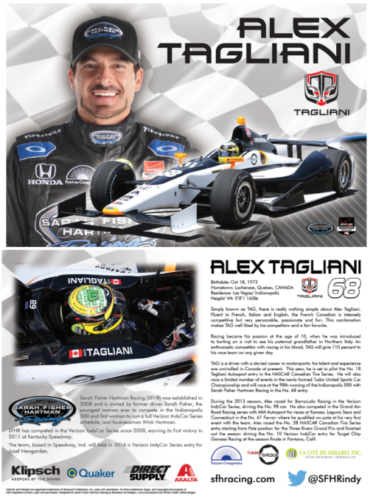Alex Tagliani Hero Card