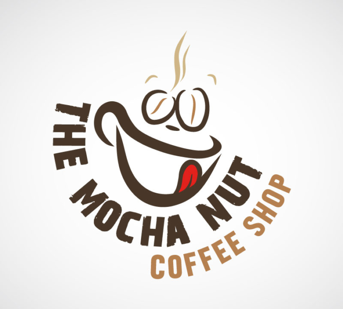 The Mocha Nut Coffee Shop Logo