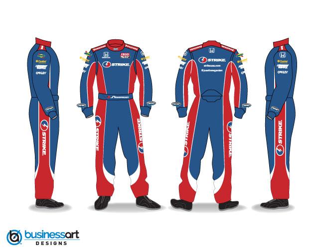 Sarah Fisher Hartman Racing Strike Fire Suit Design