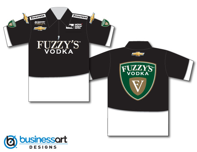2018 Ed Carpenter Fuzzy's Vodka Crew Shirts Black