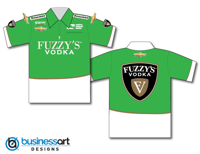 2018 Ed Carpenter Fuzzy's Vodka Crew Shirts Green