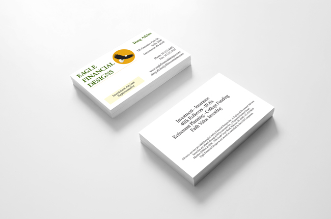 Eagle Financial Designs Business Cards