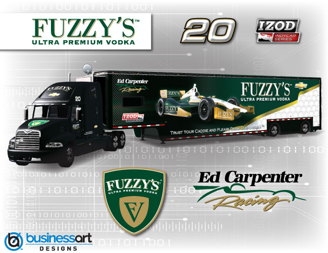 Ed Carpenter Racing 2012 transporter design