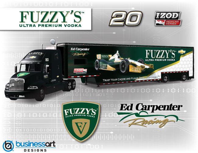 Ed Carpenter Racing 2012 transporter design