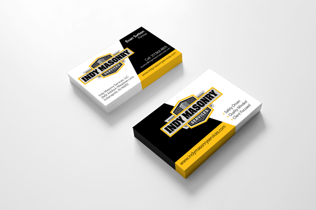 Indy Masonry Business Cards