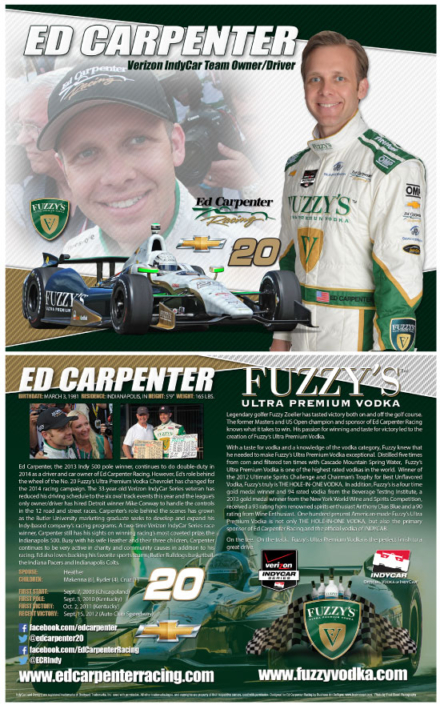 Ed Carpenter #20 Hero Card