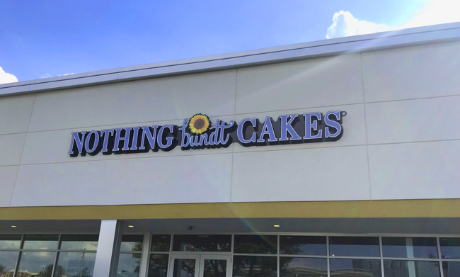 Nothing Bundt Cakes Exterior Sign