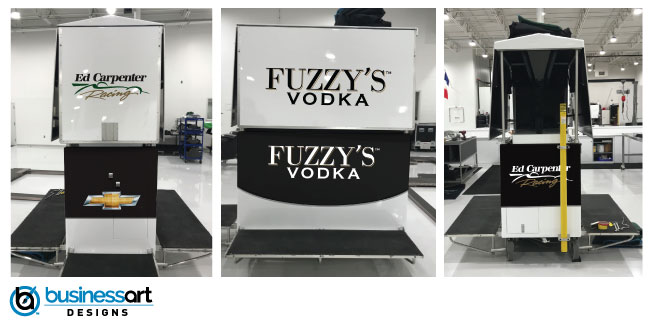 Fuzzy's Vodka Ed Carpenter Racing Timing Stand