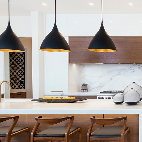 Kitchen Studio: KC - Modern Walnut & High Gloss Kitchen Design