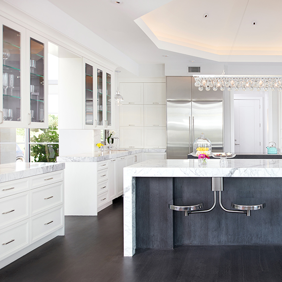 Kitchen Studio: KC - Overland Park Elegant White Kitchen