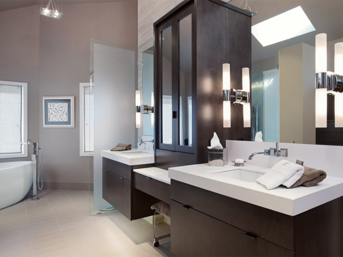 Kitchen Studio:KC - Leawood Contemporary Master Bath