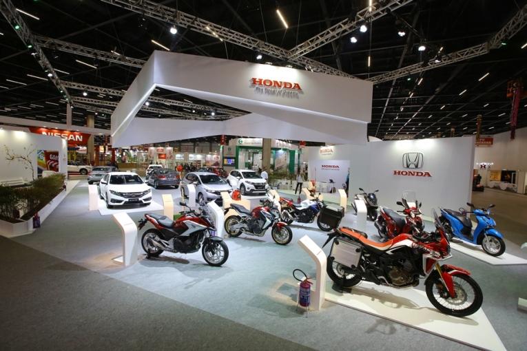 O estande da Honda é o maior do Festiva