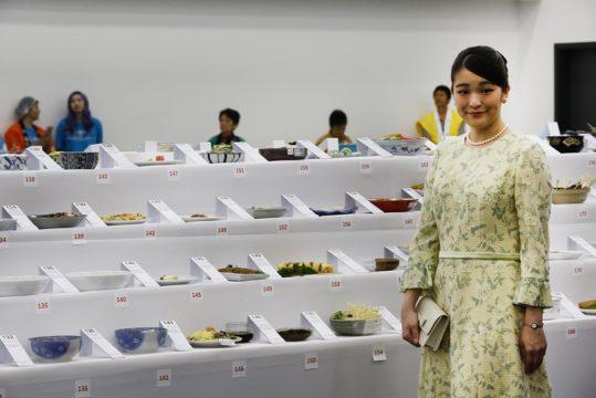 """Princesa Mako visitou a área destinada de """"Maior Mostruário de Pratos da Culinária Japonesa"""" pelo Guinnes Word Records. Foto: Caio Mattos"""