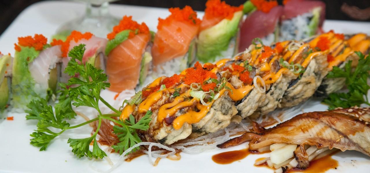 Excellent sushi at at Sake Sushi