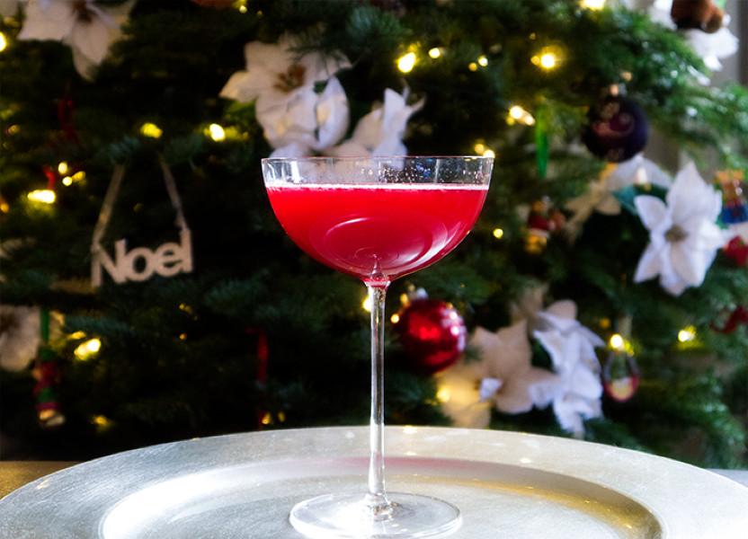 Cranberry Sparkler Christmas cocktail