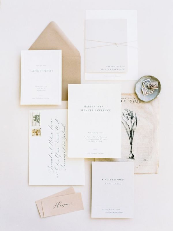 Printed wedding stationery suite
