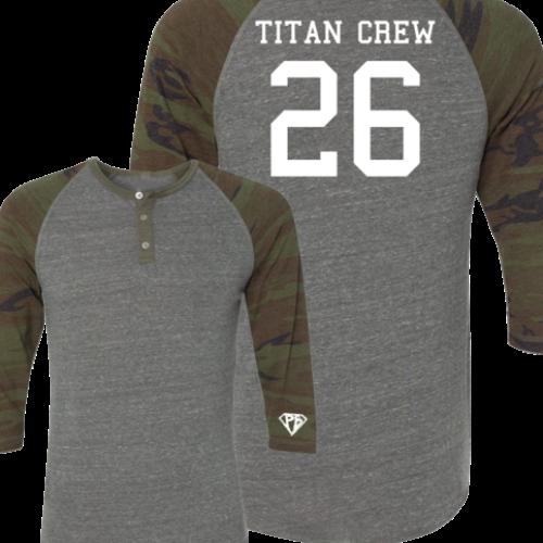 O'Hearn Power Bodybuilding Titan Crew 26 Henley