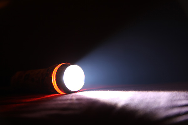 Light Beam from Electric Flashlight